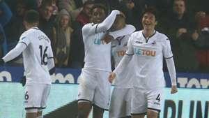 Jordan Ayew Swansea Arsenal Premier League