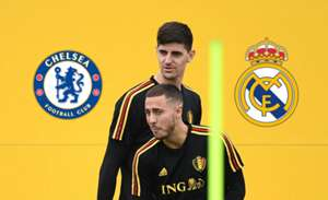 Courtois e Hazard na mira do Real Madrid