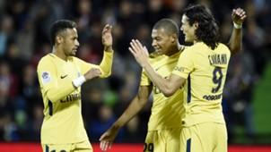 2017-09-09 PSG Neymar Mbappe Cavani