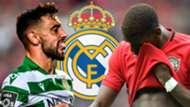 Bruno Fernandes Paul Pogba Sporting Real Madrid
