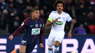 Kylian Mbappe Luiz Gustavo PSG Marseille Coupe de France 28022018