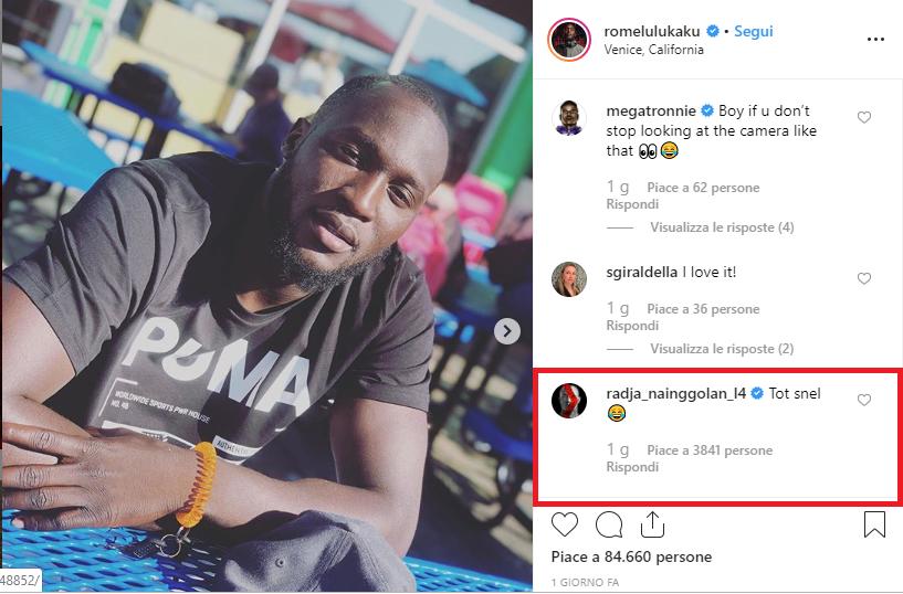 Lukaku Nainggolan Instagram