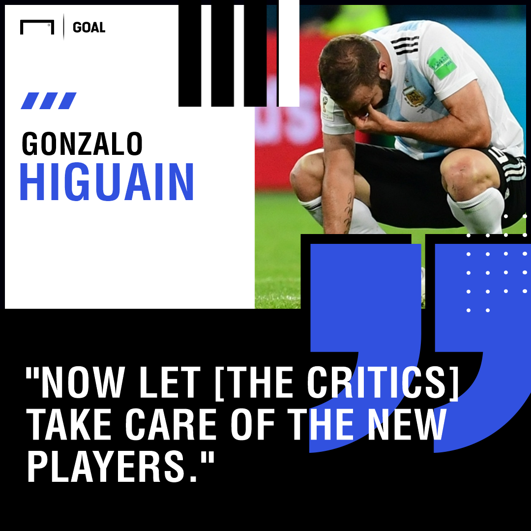 Higuain dumps Argentina national football team