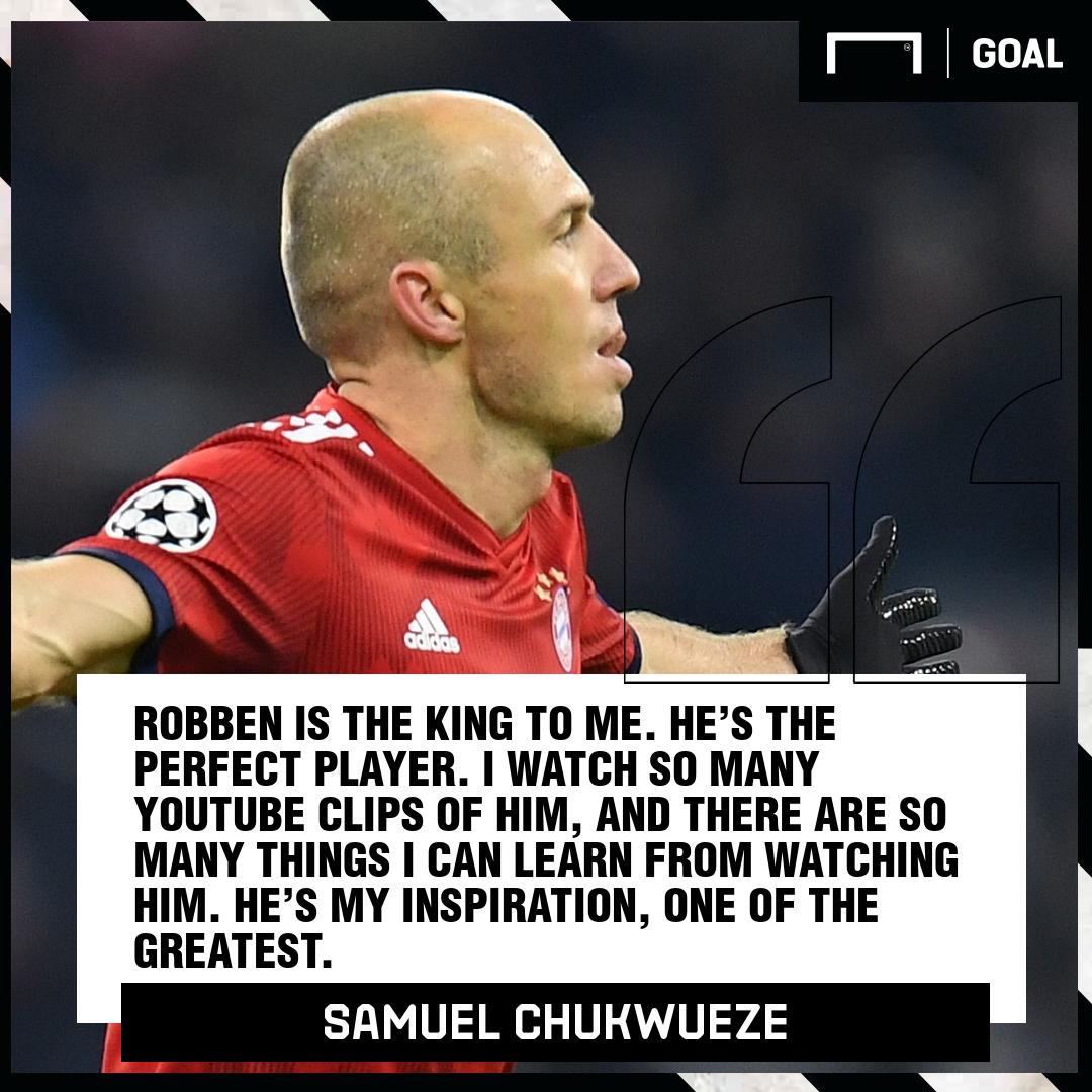 Samuel Chukwueze Arjen Robben 2019