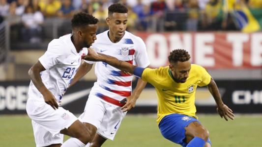 Kellyn Acosta Tyler Aams Neymar USA Brazil 09072018