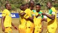 Mathare United celebrates v Muhoroni Youth.