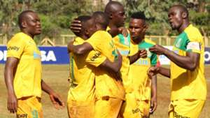 Mathare United celebrates v Muhoroni Youth.