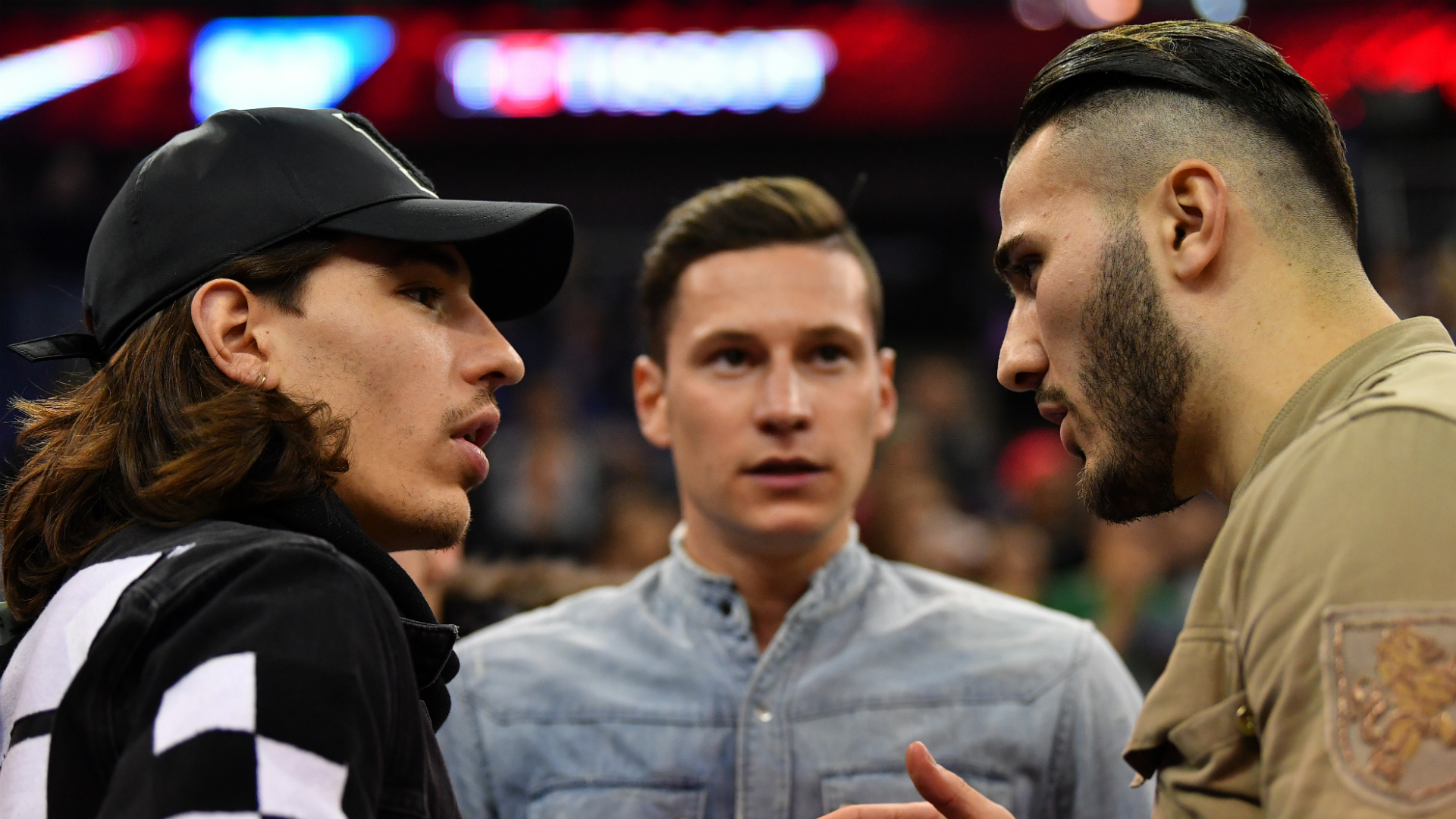 Hector Bellerin Julian Draxler Sead Kolasinac Boston Celtics vs Philadelphia 76ers