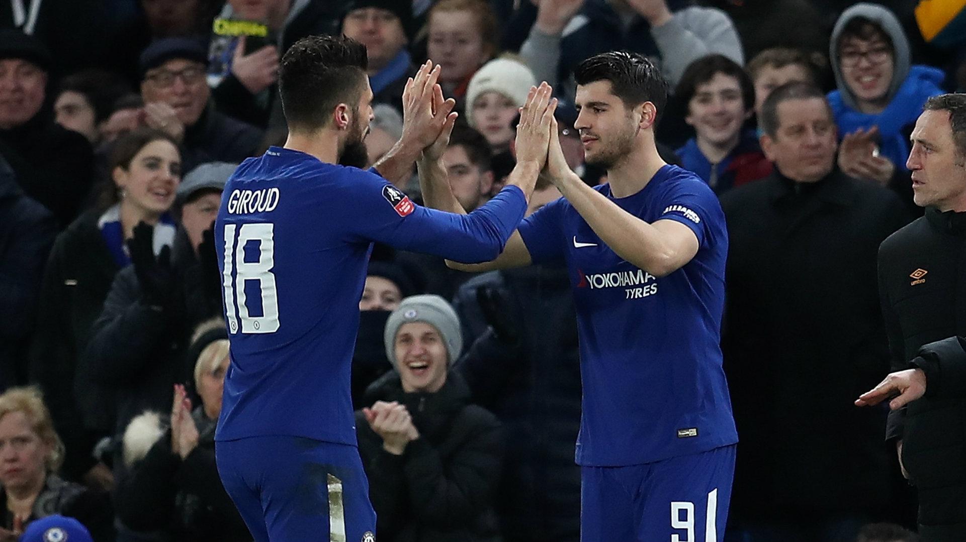 Olivier Giroud, Alvaro Morata, Chelsea, 17/18