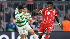 Patrick Roberts David Alaba Celtic Bayern Munich