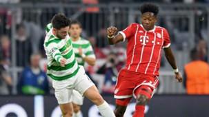 Patrick Roberts David Alaba Celtic Bayern Munich