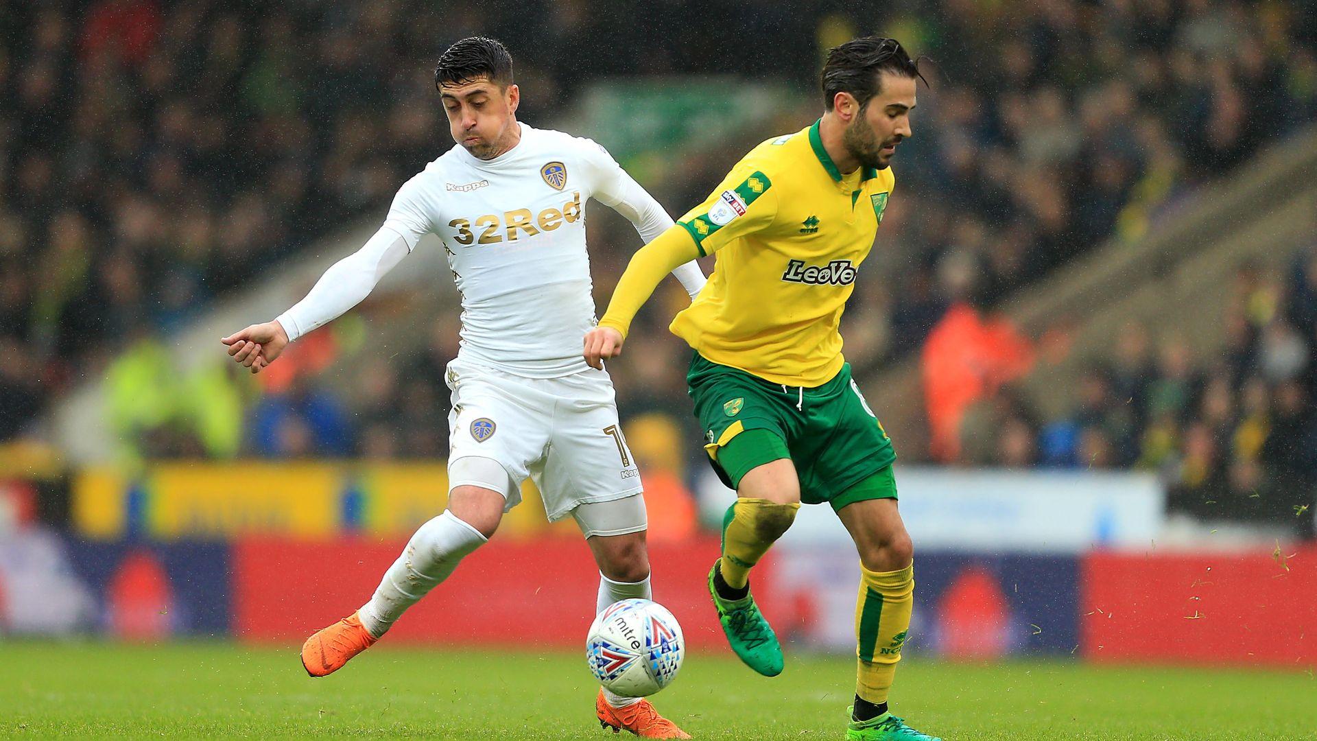Mario Vrancic, Pablo Hernandez - Norwich vs Leeds Utd