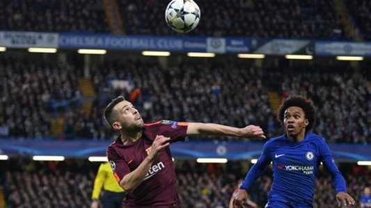 Jordi Alba Willian Chelsea Barcelona Champions League