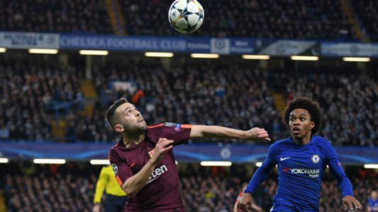 Jordi Alba Willian Chelsea Barcelona Champions League