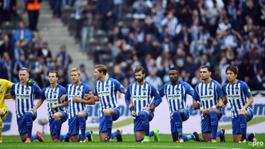 'Racism is like terrorism' - Kalou explains taking the knee with Hertha Berlin | Goal.com
