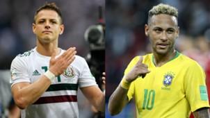 Chicharito - Neymar   México - Brasil