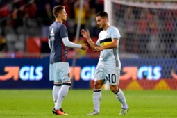Thorgan Hazard and Eden Hazard Belgium