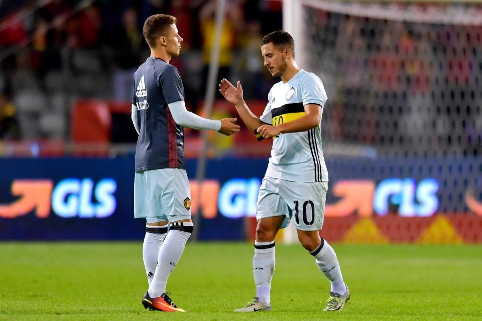Thorgan Hazard and Eden Hazard Belgium