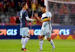 Sia Eden che Thorgan Hazard hanno giocato nella gara d'esordio dei Mondiali contro Panama: la storia del torneo è piena di fratelli...