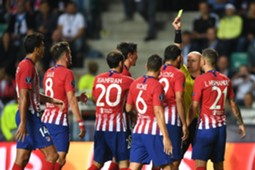 Diego Costa yellow card Real Madrid Atletico Madrid UEFA Super Cup 2018
