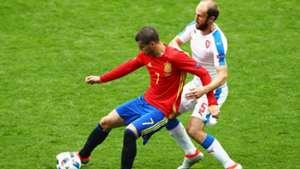 Alvaro Morata Roman Hubnik Spain Czech Republic Euro 2016
