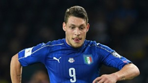 Andrea Belotti with Italy shirt