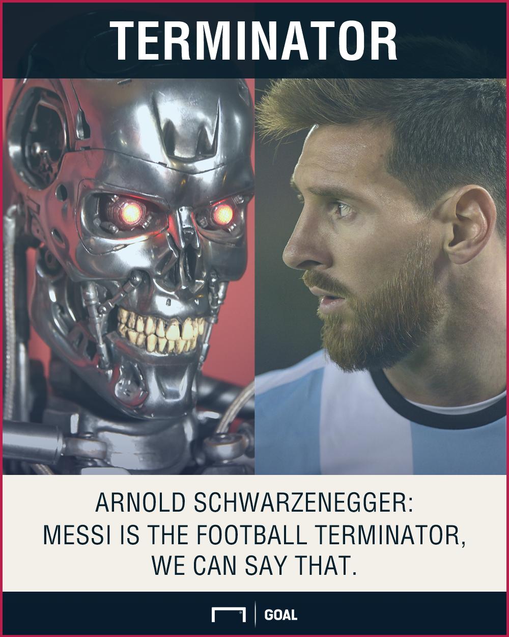 Lionel Messi Arnold Schwarzenegger Terminator