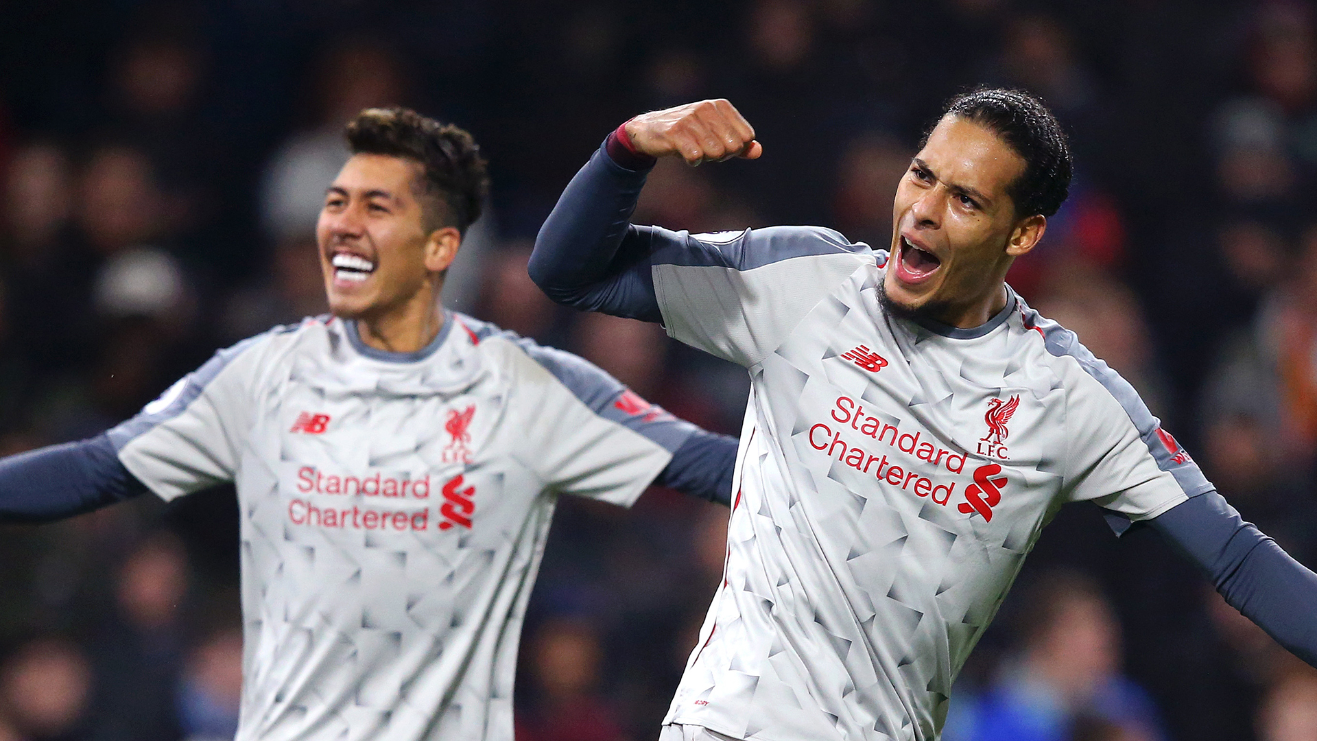 Virgil van Dijk Roberto Firmino Liverpool Burnley