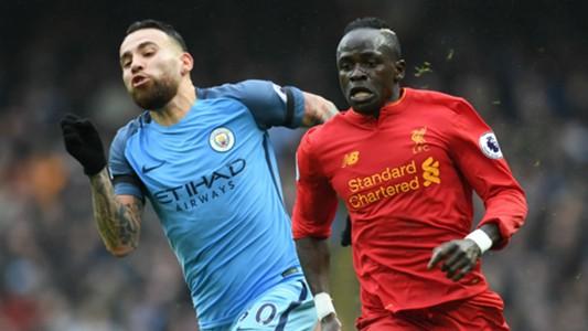 Nicolas Otamendi Manchester City Sadio Mane Liverpool.