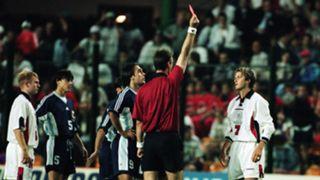 David Beckham England Argentina red card 1998 World Cup