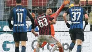 Cutrone Milan Inter Italian Cup