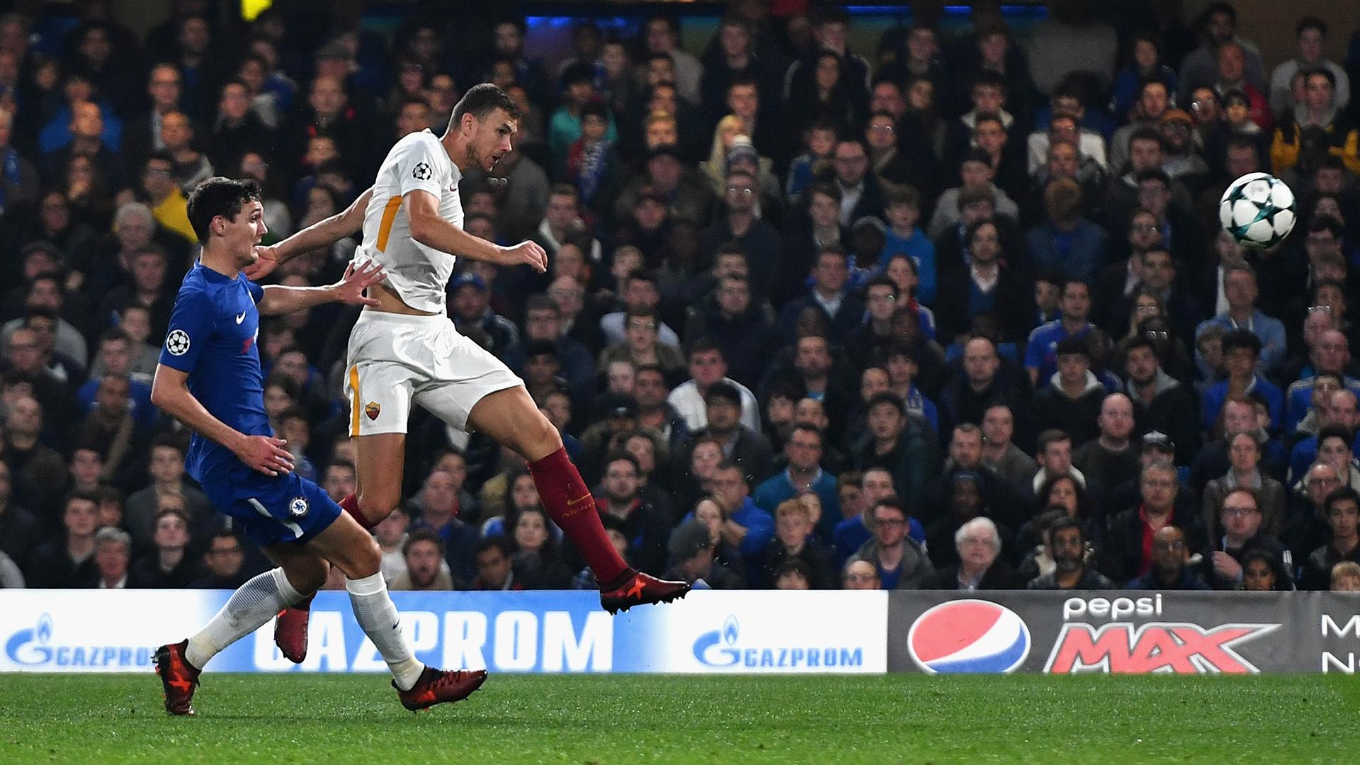 Edin Dzeko Roma Chelsea