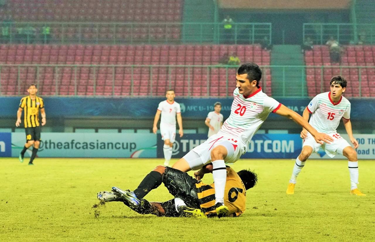 Ziyovuddin Fuzaylov, Tajikistan U19, AFC Championship U19, 23102018