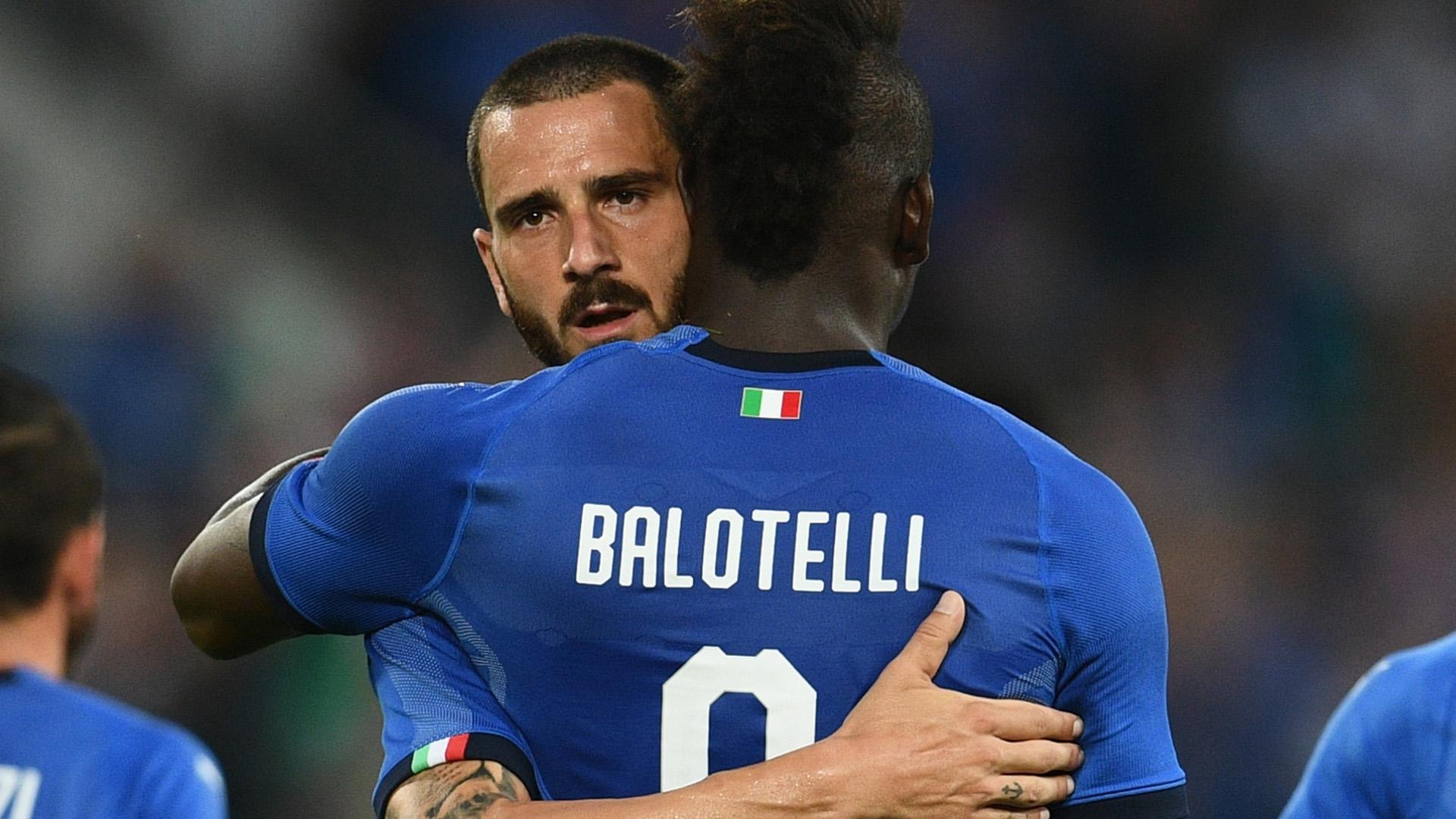 Bonucci Balotelli Italy
