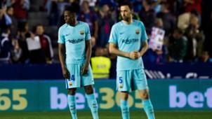 Sergio Busquets Yerry Mina FC Barcelona