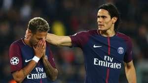 Neymar Edinson Cavani PSG Paris Saint-Germain