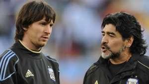 Lionel Messi Diego Maradona Argentina