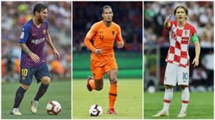 Collage Messi Van Dijk Modric