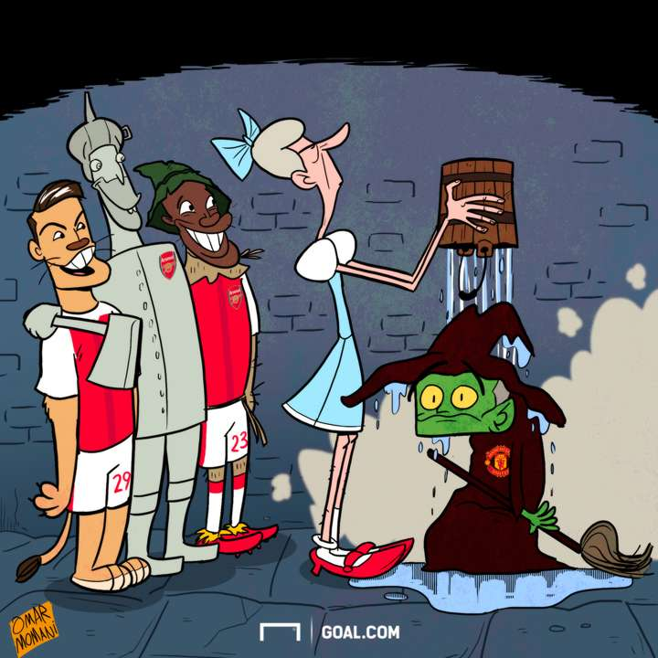 Cartoon Wenger ends Mourinho's curse