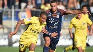 Kylian Mbappé Ellyes Skhiri Montpellier PSG Ligue 1 23092017