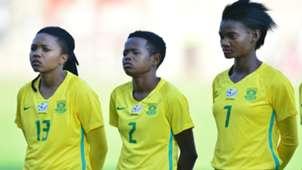 Bambanani Mbane, Lebohang Ramalepe and Regina Mogolola of Banyana Banyana