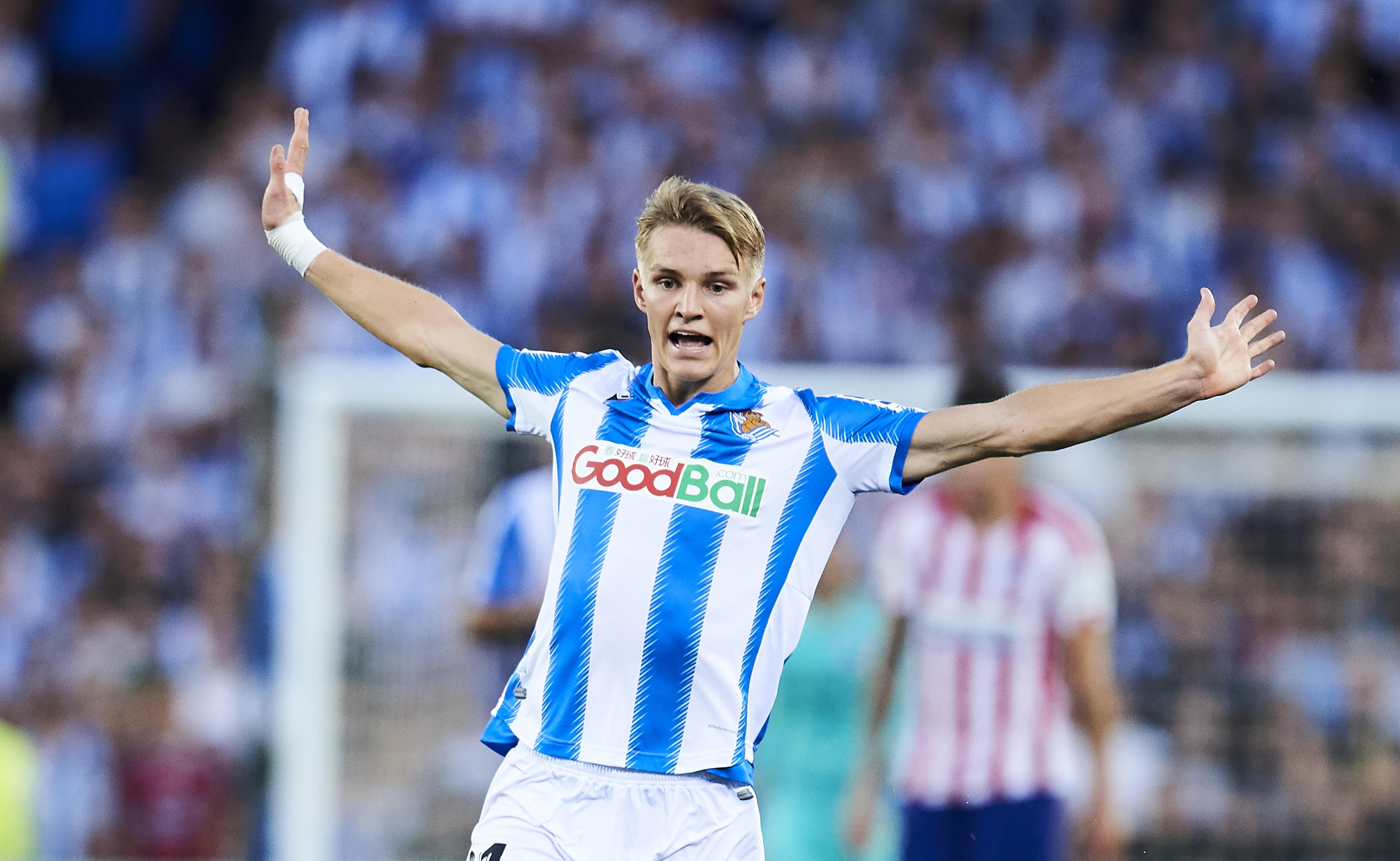 Odegaard Real Sociedad