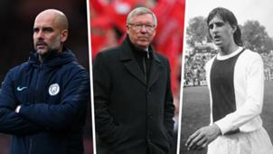 FF Best 50 manages Guardiola Ferguson Cruyff