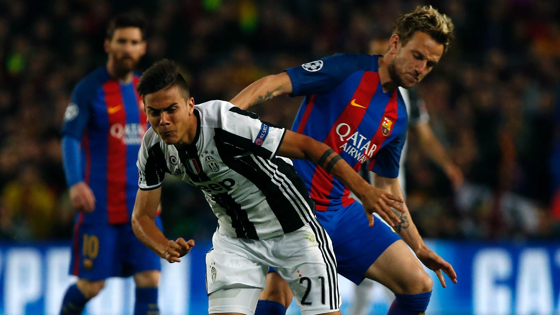 Paulo Dybala Ivan Rakitic Juventus Barcelona