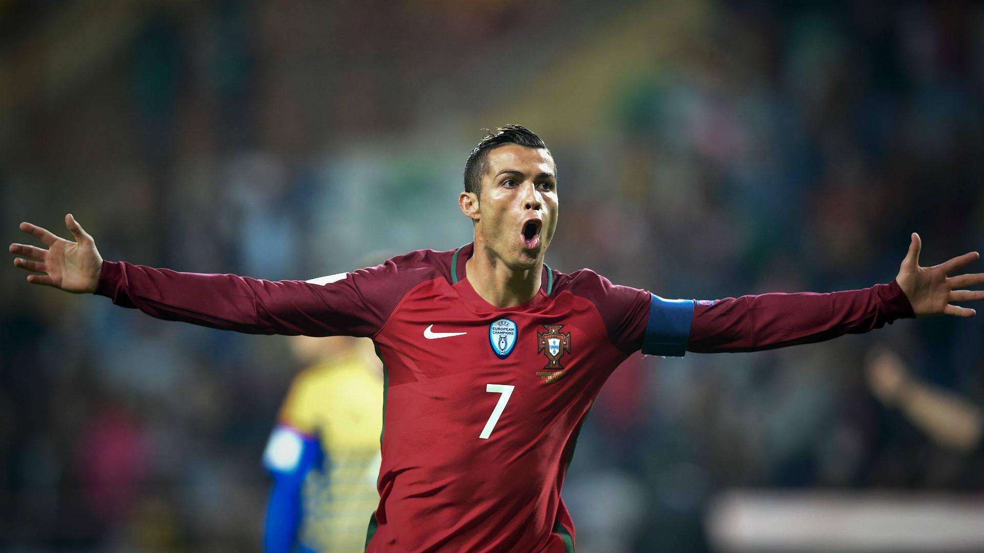 Cristiano Ronaldo Portugal v Andorra World Cup qualifying 07102016