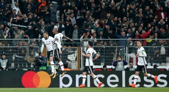 Cenk Tosun Ryan Babel Besiktas celebration vs Monaco