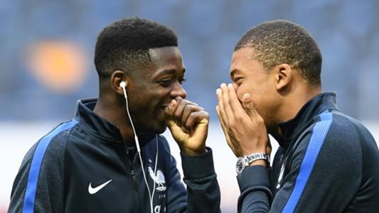 Ousmane Dembele Kylian Mbappe