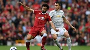 Mohamed Salah Matteo Darmian Liverpool Manchester United