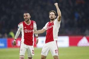 Hakim Ziyech Daley Blind Ajax-hattricks