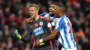Jonas Lossl Liverpool Huddersfield Town Premier League